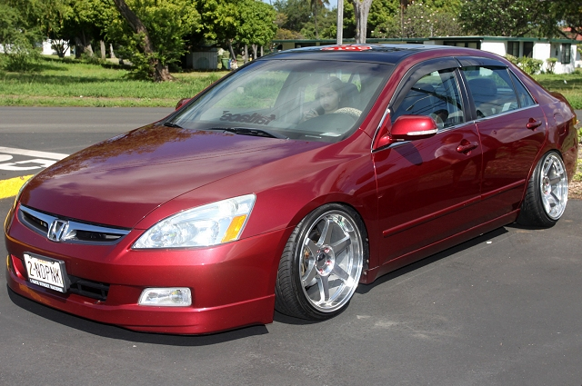 red gen 7 honda accord air suspension