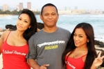Momento shot with Mia Valerio & CJ Miles after our photoshoot